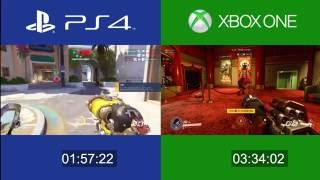 Overwatch - Playstation 4 vs Xbox One comparison (first run, graphics and gameplay)