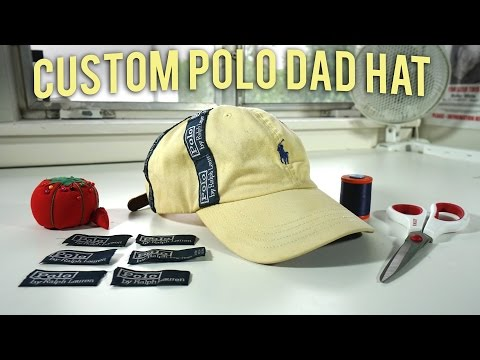 How to Create a Custom Polo Dad Hat | A Quick Thrift Fix!