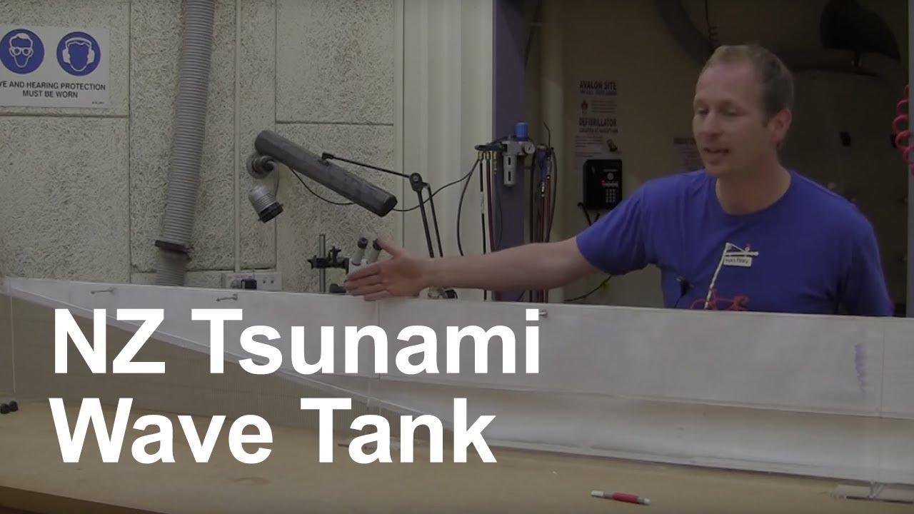 NZ Tsunami Risk - Wave Tank Demo - YouTube