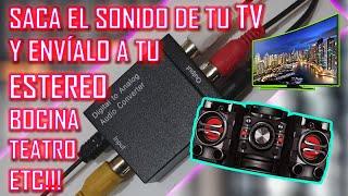 ✅Cómo CONECTAR la TV a un ESTÉREO, BOCINA,TEATRO en CASA ETC Para ESCUCHAR su SONIDO MAS FUERTE!