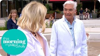 Phillip Gets Stuck in 'Quicksand' During Live Science Experiment | This Morning