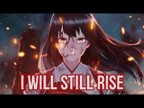 【Nightcore】→ Rise (cover) || Lyrics
