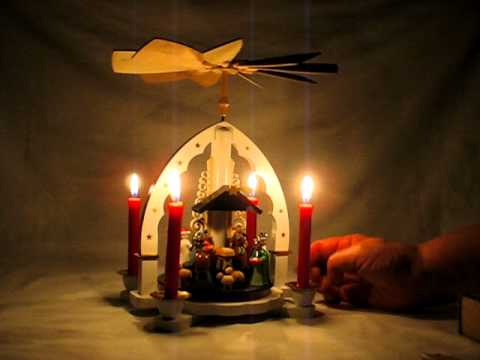 German Candle Pyramid Holy Family With The 3 Kings