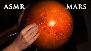ASMR 1hr Exploring Mars | History & Globe Tracing | Drawing Martians