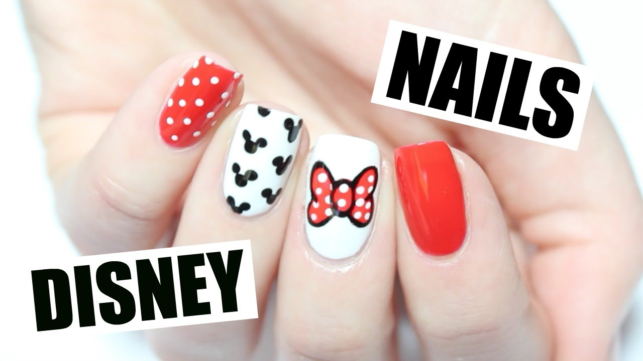 HOW TO: Easy Disney Nail Art! - YouTube