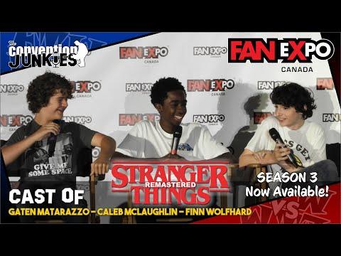 Stranger Things 2 Remastered (Finn Wolfhard & Caleb McLaughlin, Gaten Matarazzo) Fan Expo Canada