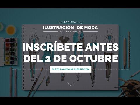 ¡Inscríbete al taller virtual de ilustración de moda! Empezamos el 5 de octubre
