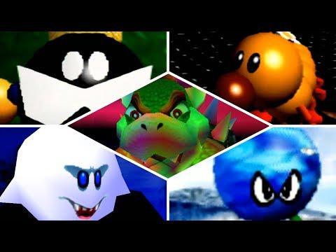 Super Mario 64 - All Bosses (No Damage) & Ending