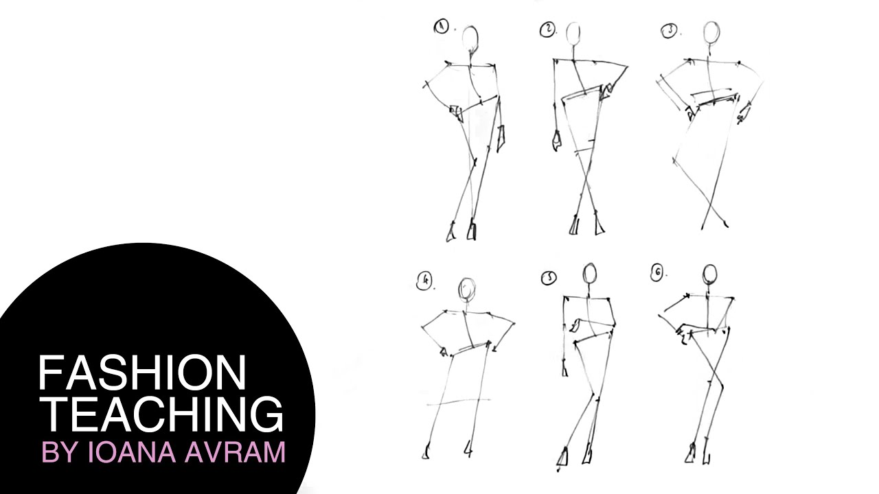 How to draw fashion poses - YouTube