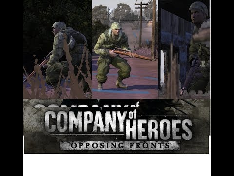 Sniper Insertion. Company of Heroes -  COH Tales Of Valor gameplay |