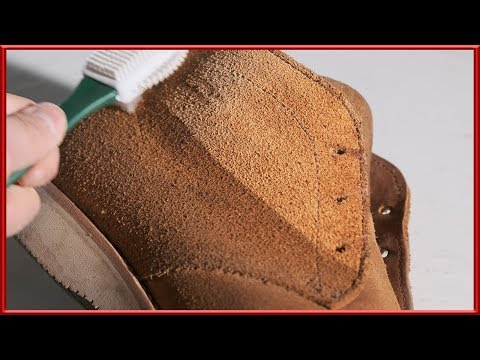 [ASMR] Clean & restore 'Viberg' x 'Nigel Cabourn' suede boots !!