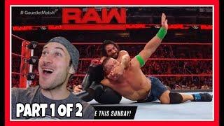 REACTION | Historic WWE Raw GAUNTLET MATCH Part 1 Of 2 | Seth Rollins Cena Reigns | Feb. 19, 2018