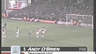 2001 (December 18) Newcastle United 3 -Arsenal 1 (English Premier League)