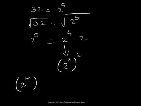 Simplify a Radical into Simple Radical Form - square root - YouTube
