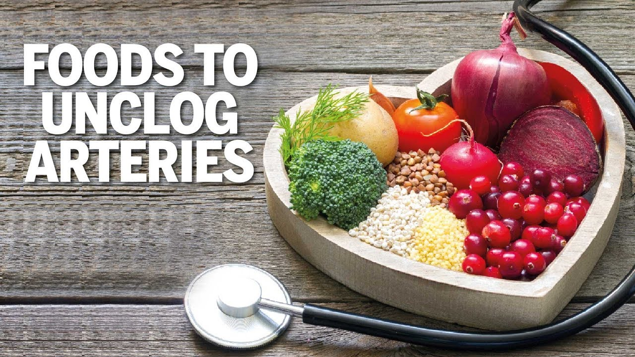 how to declog arteries with diet
