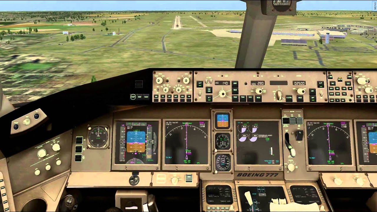 Ramzzess 777-200 for X -plane 10  first landing attempt at EIDW Dublin  Ireland