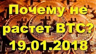 Почему BTC/USD не растет? Что мешает Биткойн вырасти? Прогноз цены Bitcoin на 19.01.2018