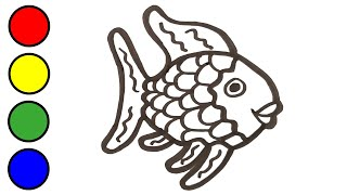 Drawing Fish Coloring Pages for Kids, Painting for Kids and Toddlers