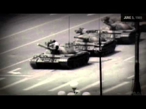 Man vs  Chinese tank Tiananmen square — 1989 Raw Video