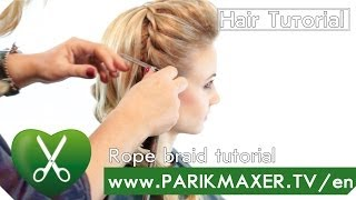 Rope braid tutorial parikmaxer tv english version