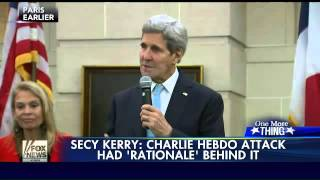 Kerry: Charlie Hebdo attack had 'rationale' behind it
