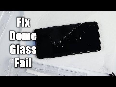 Galaxy S9+ Whitestone Dome Glass Install Fail & Fix