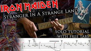 How to play Adrian Smith's solos #24 Stranger In A Strange Land (with tablatures and backing tracks)
