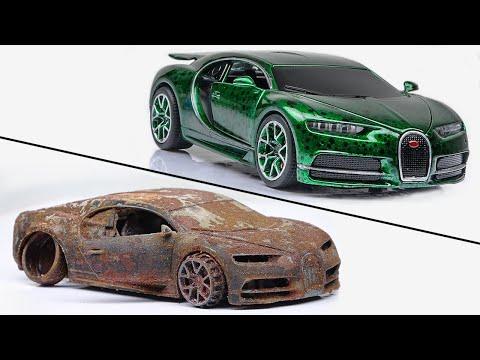 Restoration abandoned Bugatti Chiron rebuilding Model Car || Water Dot Fx