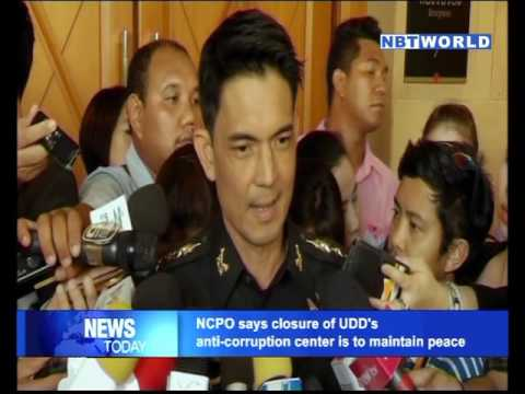 NCPO says closure of UDD's anti corruption center is to maintain peace