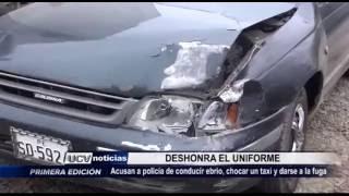 Víctor Larco: Policía deshonra el uniforme tras darse a la fuga