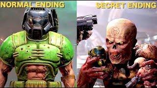 Doom Eternal 2020 - Secret Ending Vs Normal Ending
