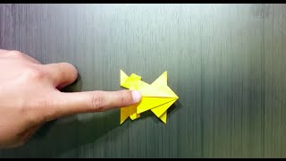 Jumping Paper Frog Origami - Origami Papercraft Is My Hobby