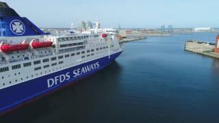 DJI Phantom 4 pro Copenhagen ships aerial footage 4K