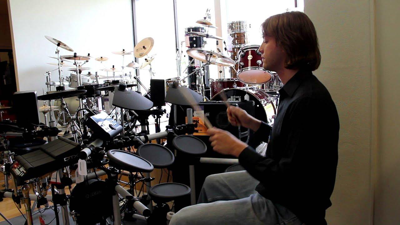Yamaha Dtx500 Electronic Drum Kit Demo Youtube