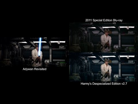 Lightsaber Training - STAR WARS Revisited Comparison (Revisited, Blu-ray, DeEd)