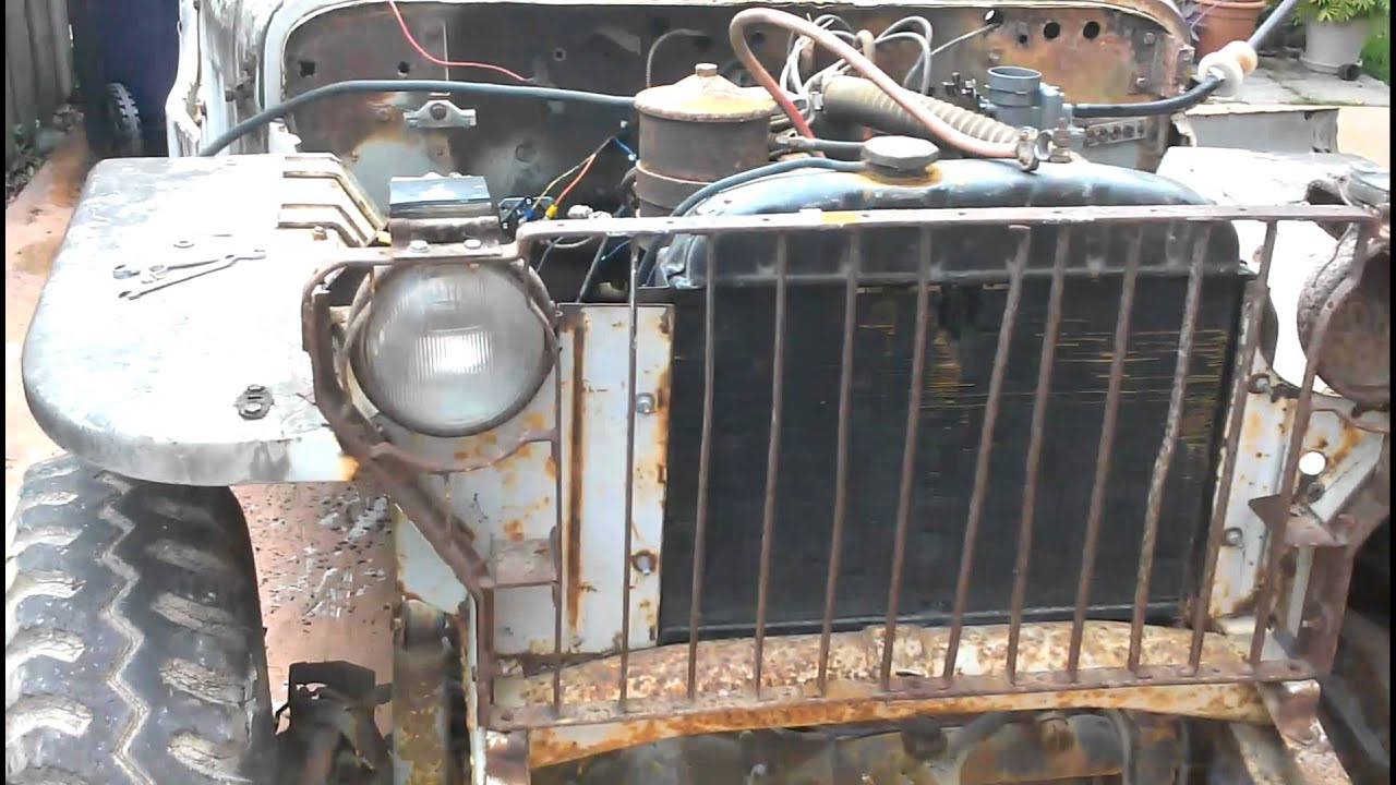 Jeep Willys Mb >> Willys mb engine start - YouTube