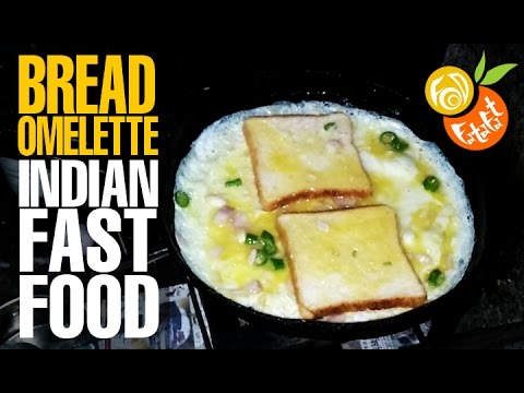 Bread Egg Omelatte - Street Food   Popular Indian Fast Food
