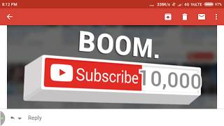 YouTube sent email for sir  passing 10000 subscribe