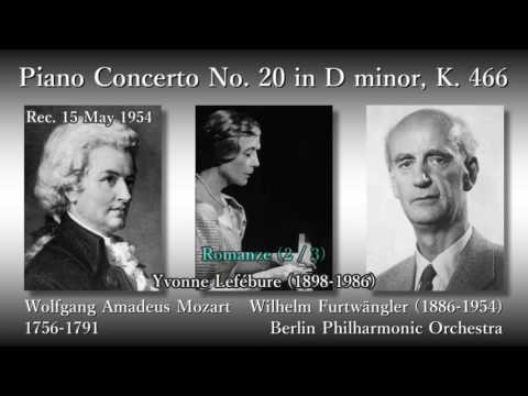 Mozart: Piano Concerto No. 20, Lefébure & Furtwängler (1954) モーツァルト ピアノ協奏曲第20番 ルフェビュール