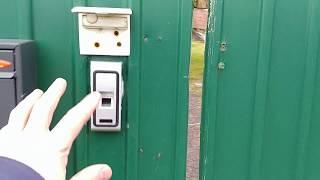 Забор со сканером отпечатков пальцев и WiFi