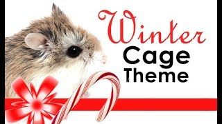 ⛄ Winter Hamster Cage Theme🐹💖 Hamster Cage Tour ♥