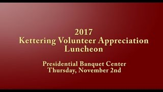 2017 Kettering Volunteer Recognition Luncheon