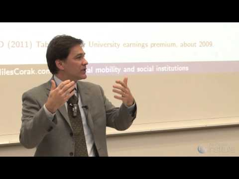 Miles Corak;  Social mobility & Social Institutions