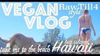 Vegan RawTill4 VLOG - Hawaii - Take Me to the Beach