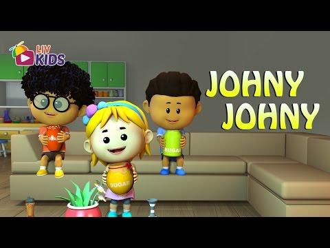 Johny Johny Yes Papa with Lyrics | LIV Kids Nursery Rhymes and Songs | HD