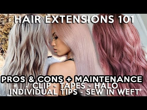 EVERYTHING YOU NEED TO KNOW ABOUT HAIR EXTENSIONS  | 5 TYPES + BRANDS I LIKE & DISLIKE