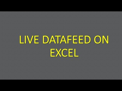 How to LINK a live datafeed on EXCEL