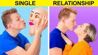 Single vs Relationship / 12 Situations Everyone Can Relate To