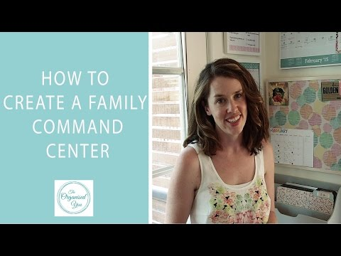 How to create a family command centre