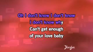 Karaoke Can't Get Enough Of Your Love   Taylor Dayne